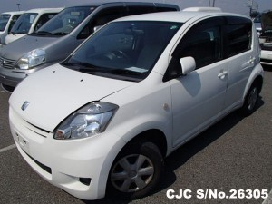 Toyota Passo in white