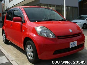 Toyota Passo in red